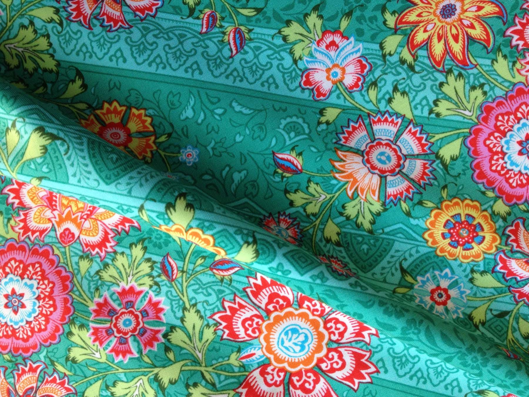 Amy Butler Home Decor Fabric Teal Quilting Fabric Amy Butler Quilting Fabric Lark Jade Green