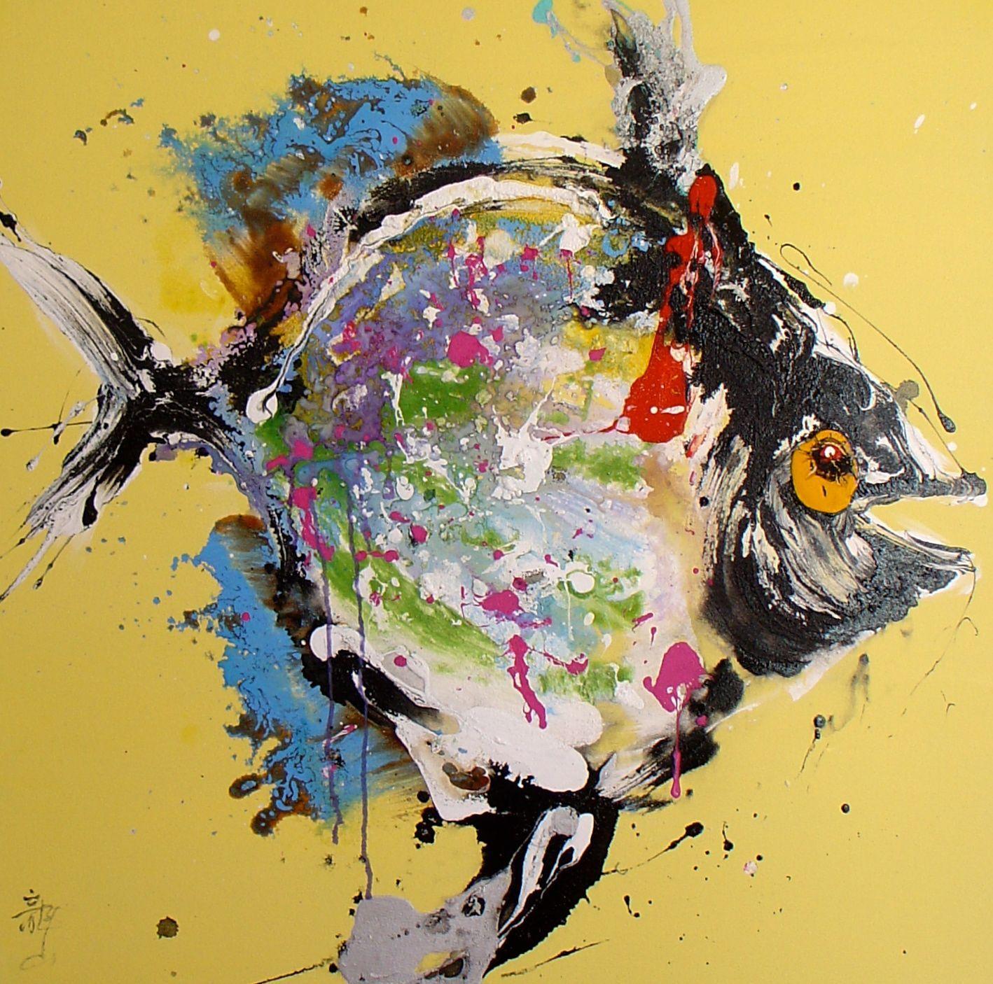 tableau peinture poisson
