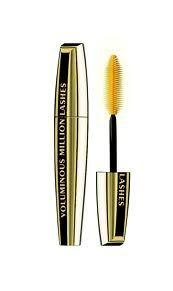 Volume millions lashes mascara. http://www.lorealparis.co.in/cosmetics/eyes/volume-million-lashes/black.aspx