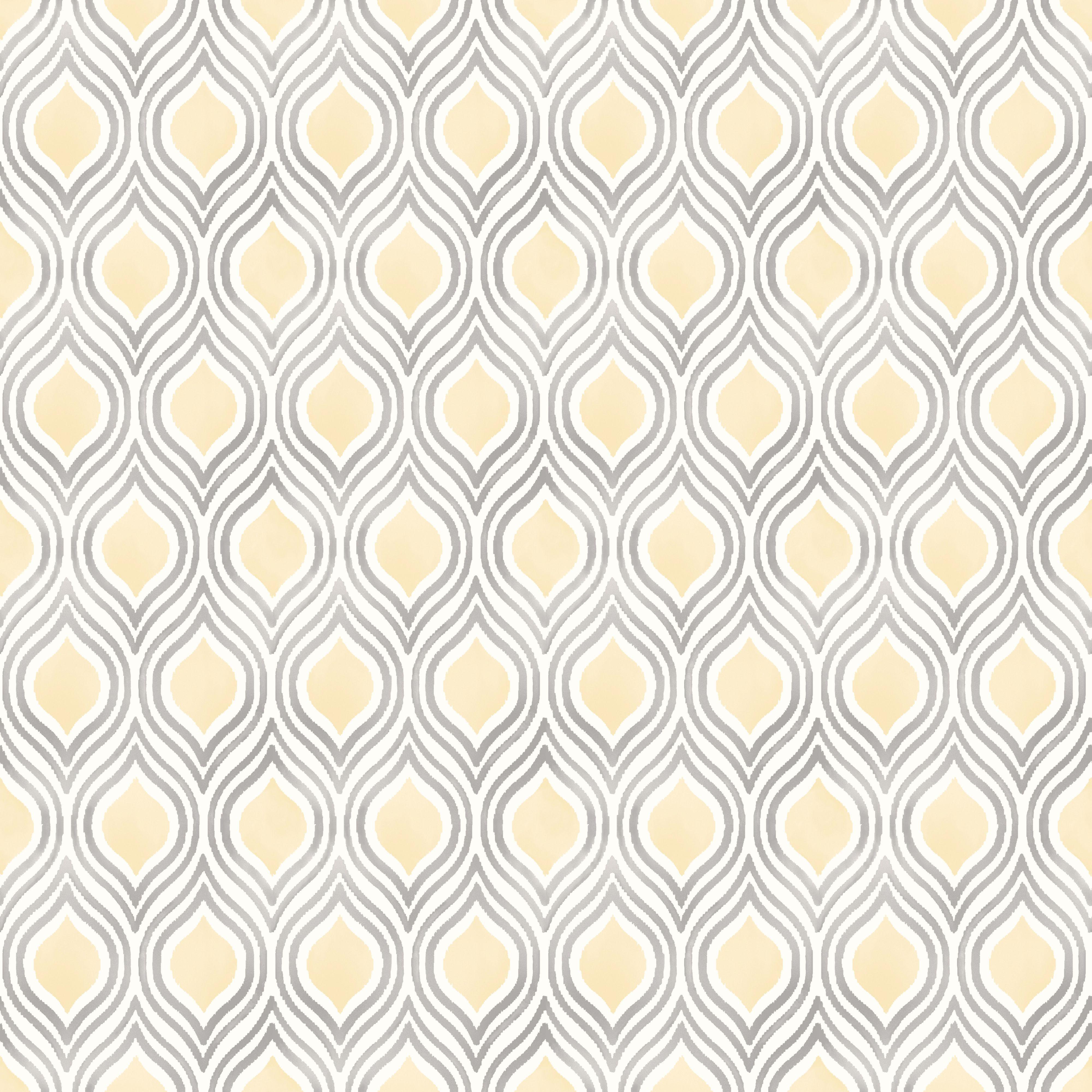Ailsa Soft Lemon Geometric Wallpaper Departments Diy At B Q