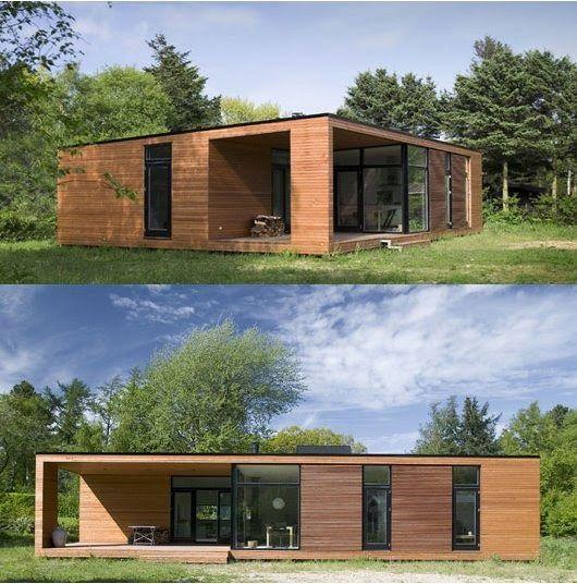 La casa fue dise ada por la oficina danesa de arquitectura for Oficina prefabricada