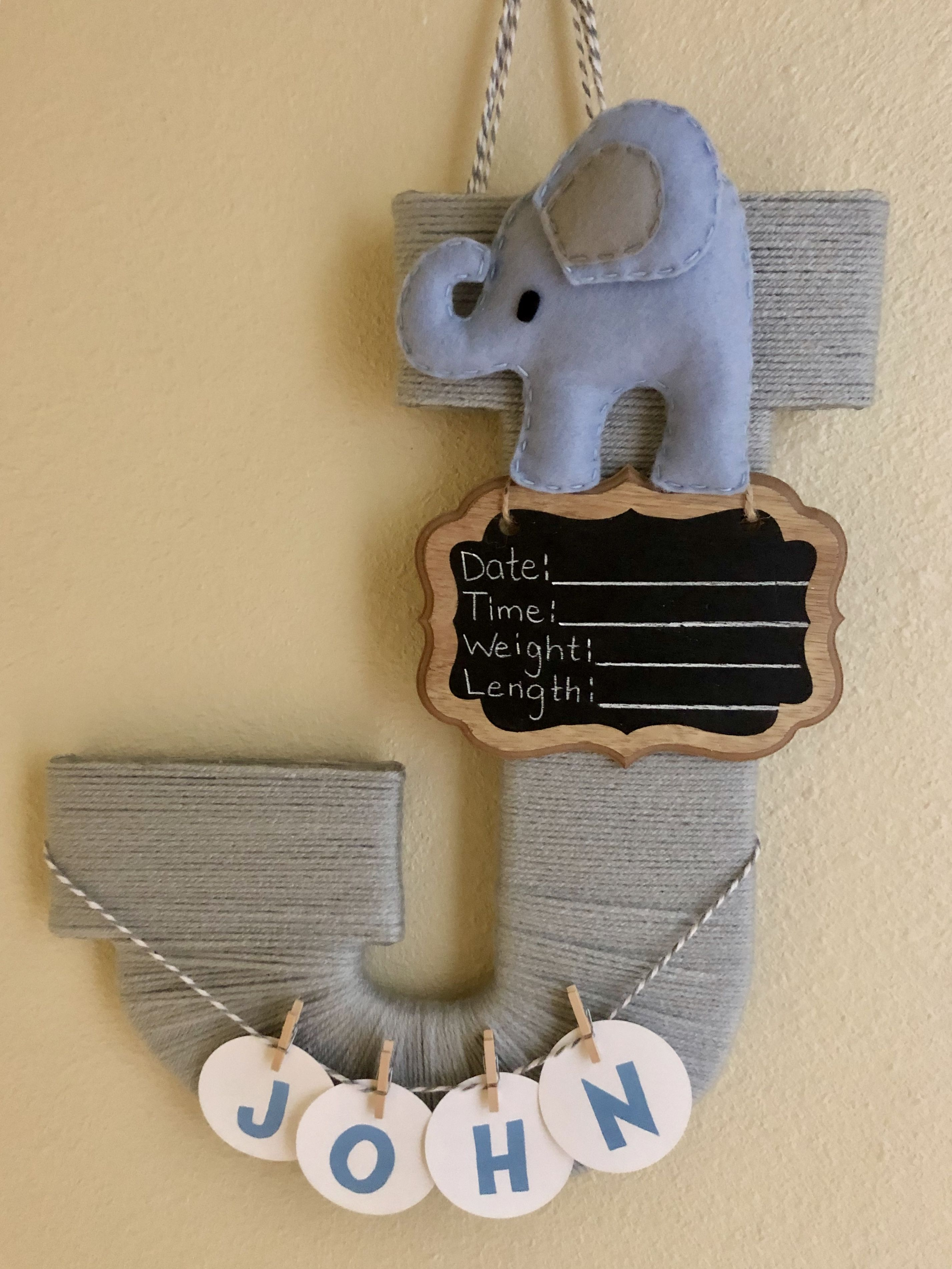 Baby Boy Birth Announcement Door Hangers : birth, announcement, hangers, Birth, Announcement, Hangers
