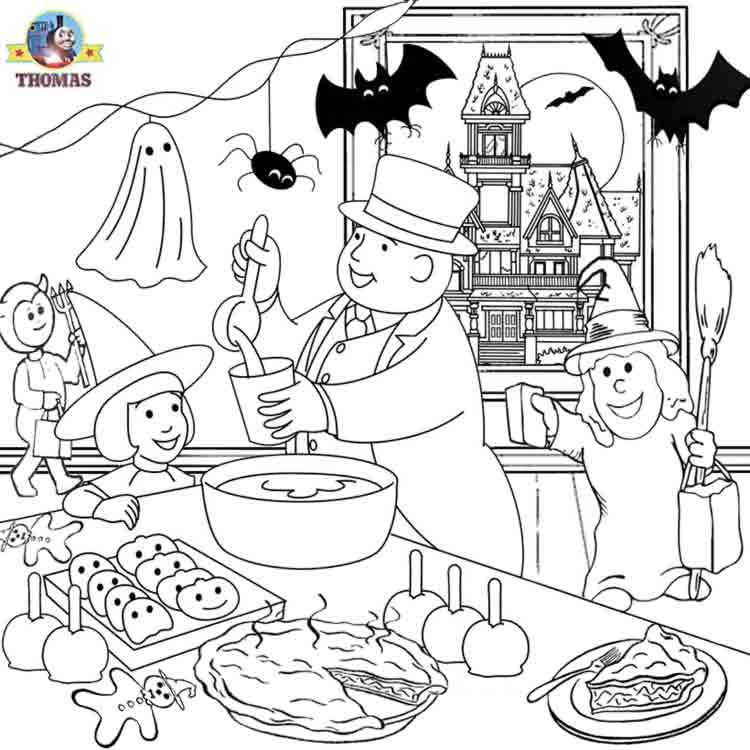 Thomas the train halloween worksheets for kids | Train Thomas the ...