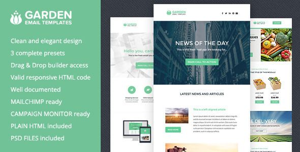 Download Free Garden - Responsive Email Templates + Builder # app - responsive email template