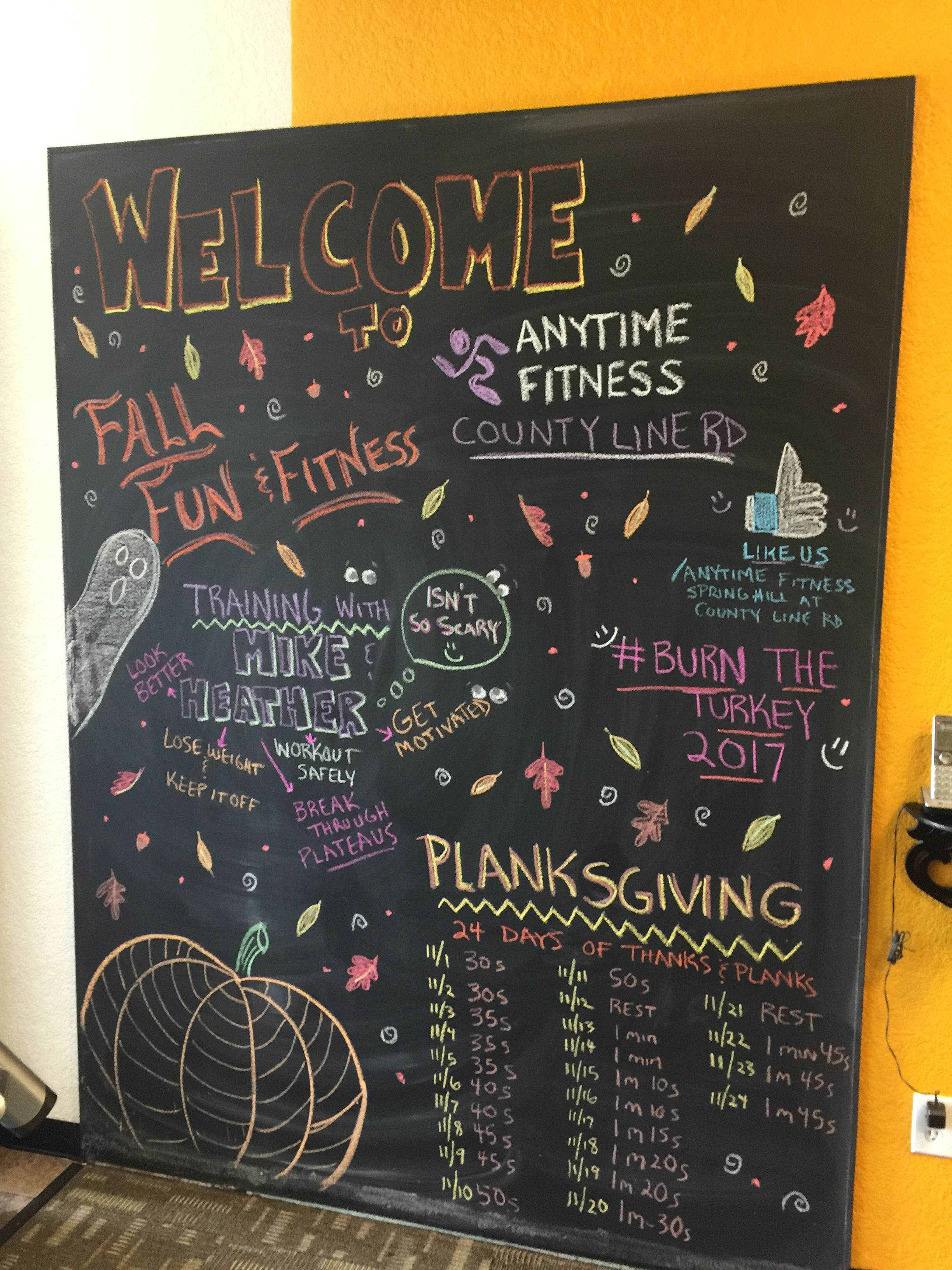 Pin By Rhonda Northcutt Mcnamara On Chalkboards Inspiration Board Fitness Anytime Fitness Gym Gym Art