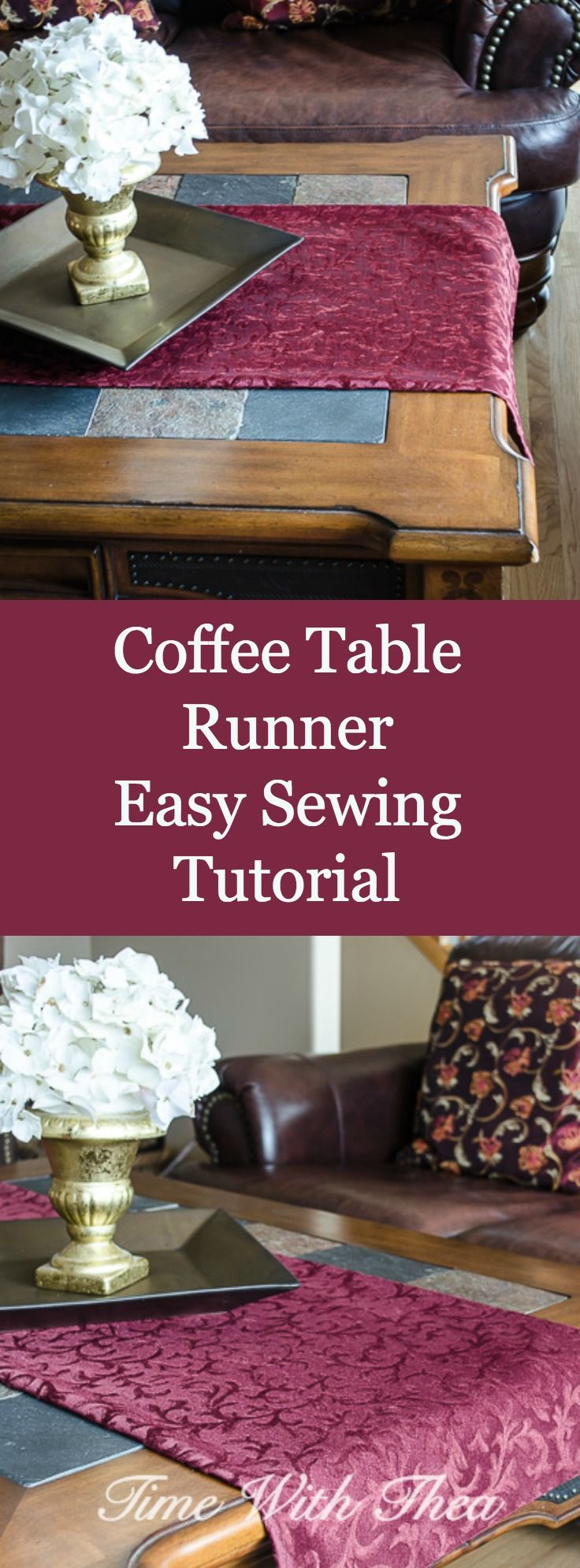 Coffee table runner easy sewing tutorial runners table runners coffee table runner easy sewing tutorial geotapseo Choice Image