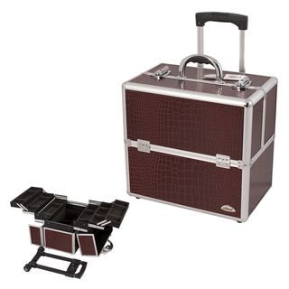 @Overstock - Sunrise 3-Tier Burgundy Crocodile Rolling Makeup Case - Make transporting large cosmetics a breeze with this burgundy makeup rolling case. It features three tiers and six extendable trays so there is plenty of room for all your items. It also has two latches with locks to secure your collection.  http://www.overstock.com/Health-Beauty/Sunrise-3-Tier-Burgundy-Crocodile-Rolling-Makeup-Case/7873599/product.html?CID=214117 $109.99