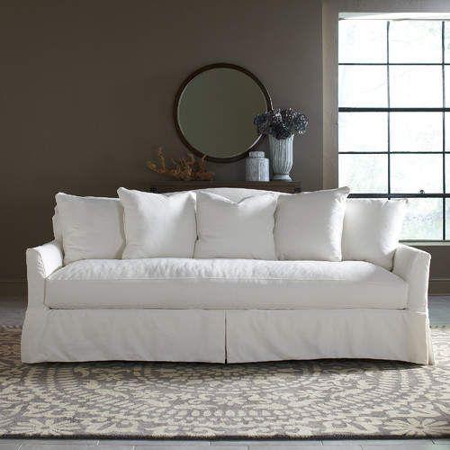 Fairchild Slipcovered Cotton 90 Flared Arm Sofa Slipcovered