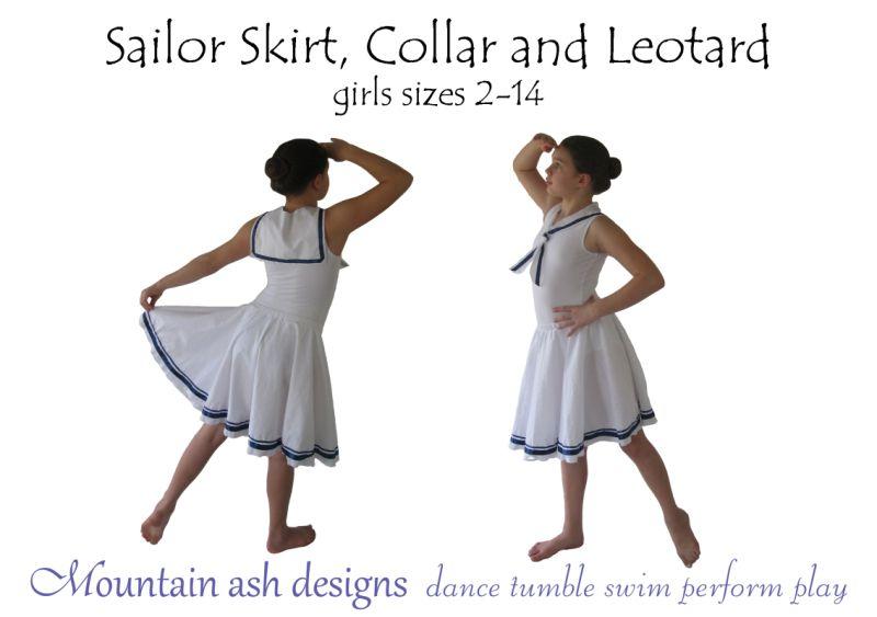 Sailor Leotard, Collar and Skirt Costume | Sewing Patterns | Pinterest