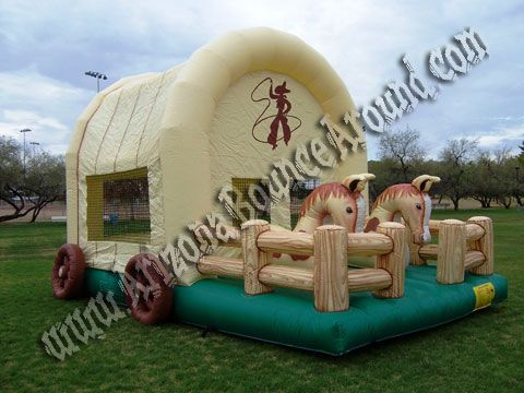 Cowboy Western Bounce House rentals Rent a Cowgirl Bounce House