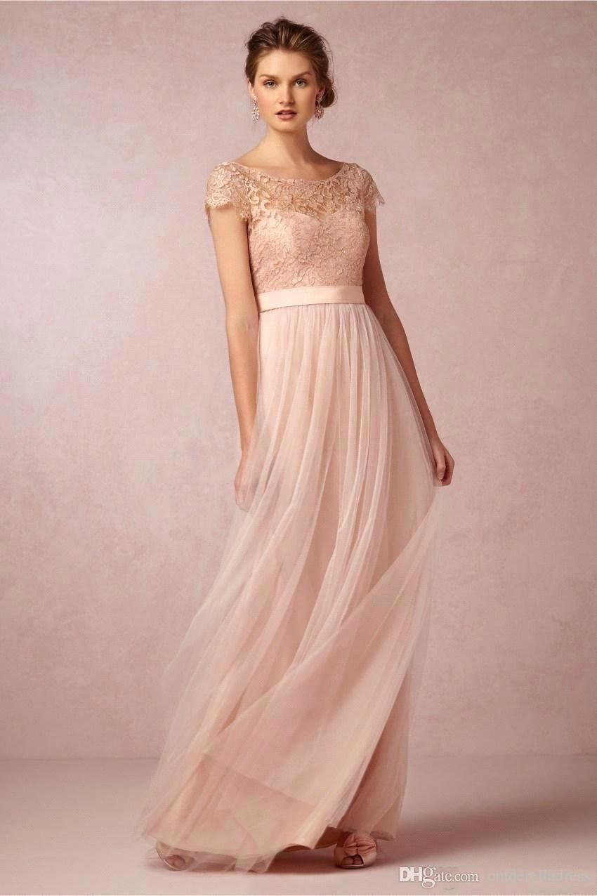Find more bridesmaid dresses information about new arrival elegant find more bridesmaid dresses information about new arrival elegant cap sleeve blush pink lace and tulle ombrellifo Images