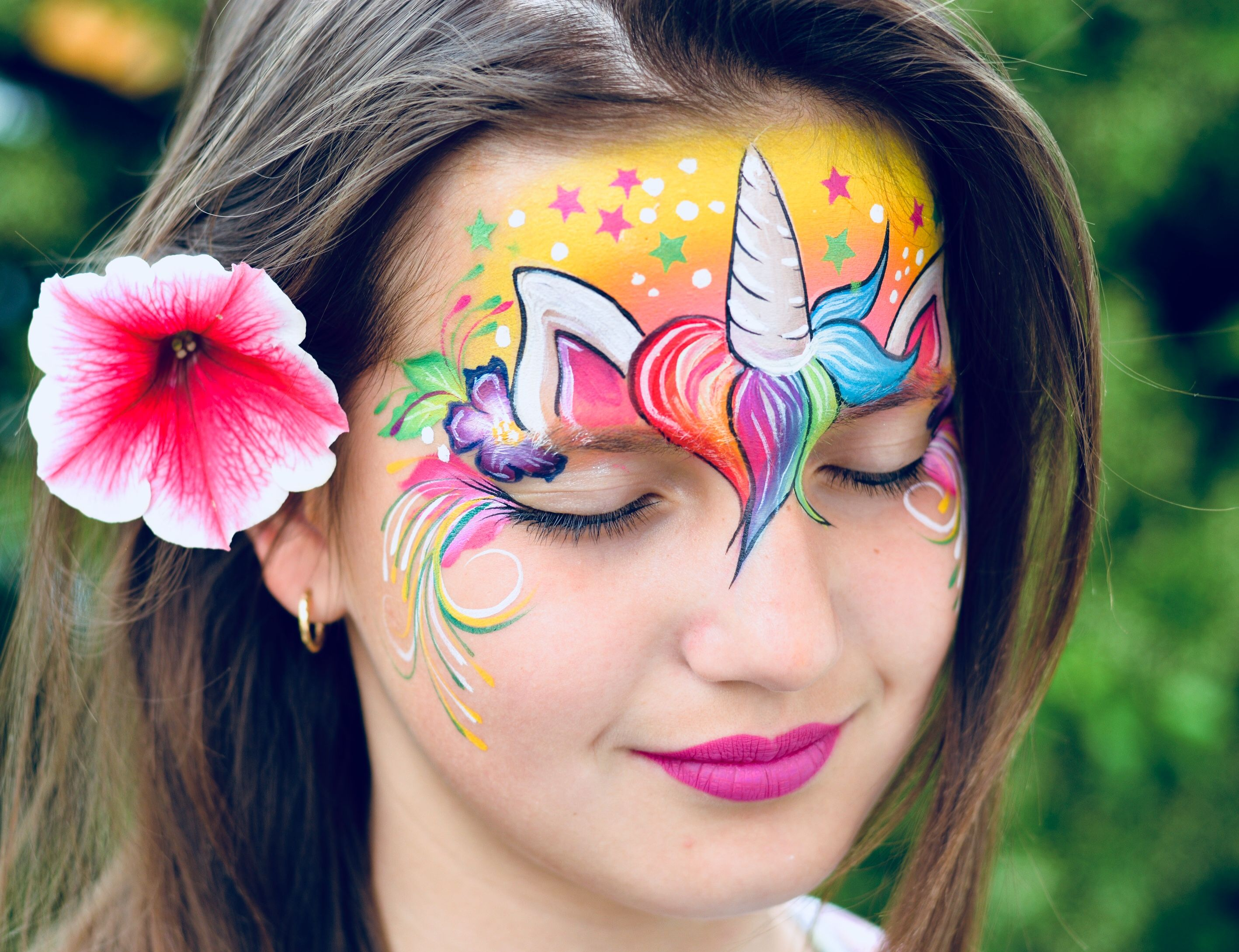 unicorn face painting by melanie branchi face painting