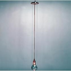 Photo of Tecnolumen Le tre streghe Pendelleuchte, Metall verchromt, Kugel aus handgefertigem Muranoglas Tecno
