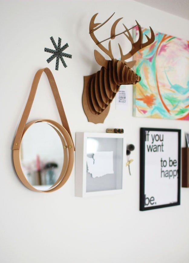DIY Hanging Mirror - Sugar and Cloth