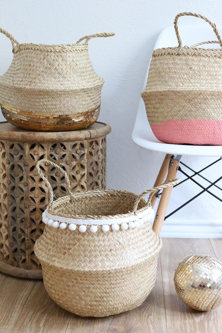 Ikea Hack Wicker Basket 3 Ways For Cute Storage Toy Storage Baskets Diy Toy Storage Kids Storage Baskets