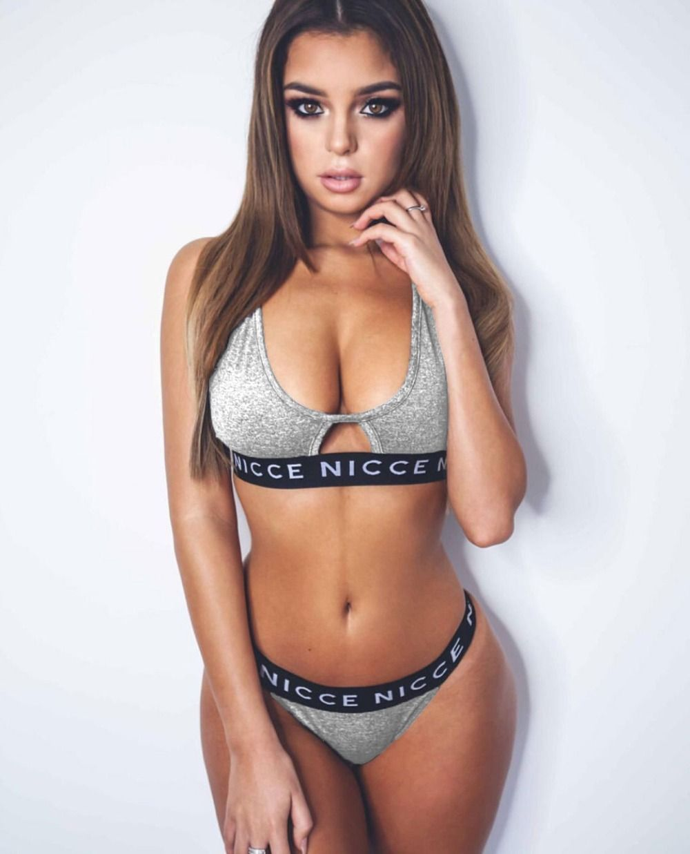 6424f13a20 2017 Summer hollow out elastic lounge underwear suits, sexy bikini  comfortable push up bra set letter print style sexy lingerie