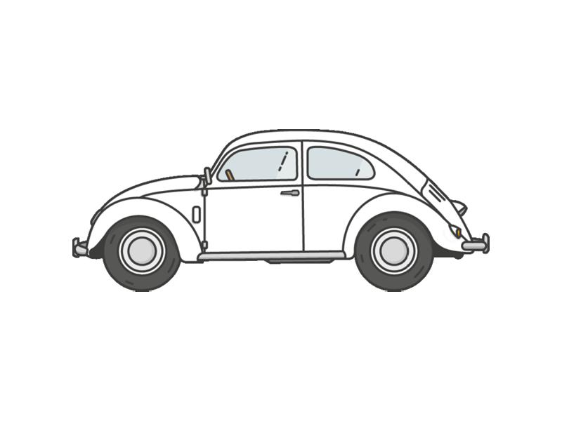volkswagen beetle classic cars vol 1 illustration