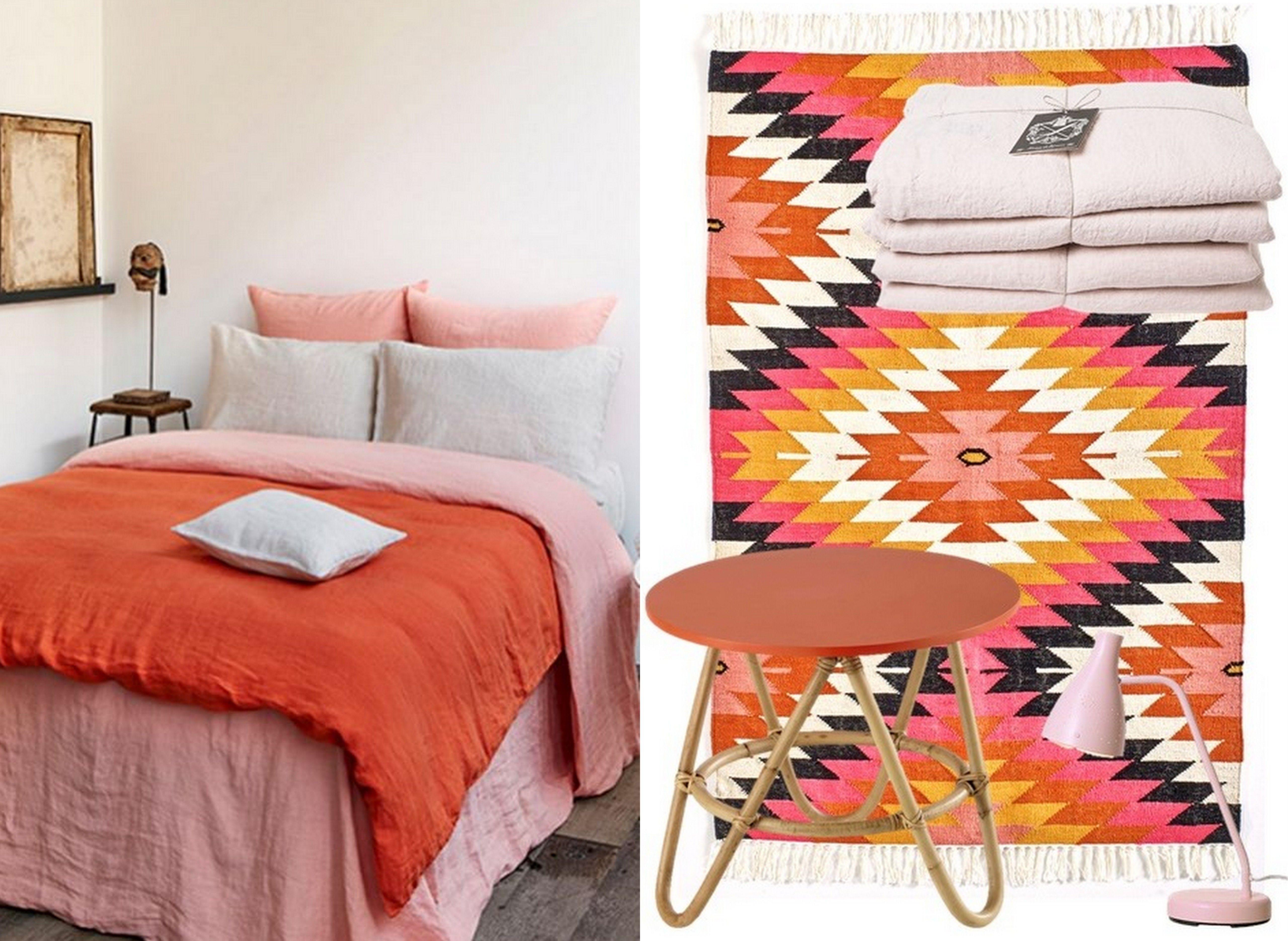 Déco rose et orange : le bon mix à adopter   INTERIEURS ...