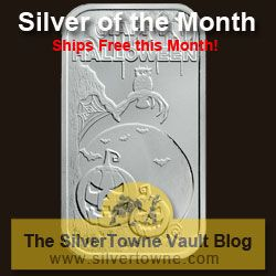 VAULT BLOG: Happy Halloween Scary 1oz .999 Silver Bar – The October 2014 Silver of the Month http://ow.ly/Cg2P4  #silver #halloween