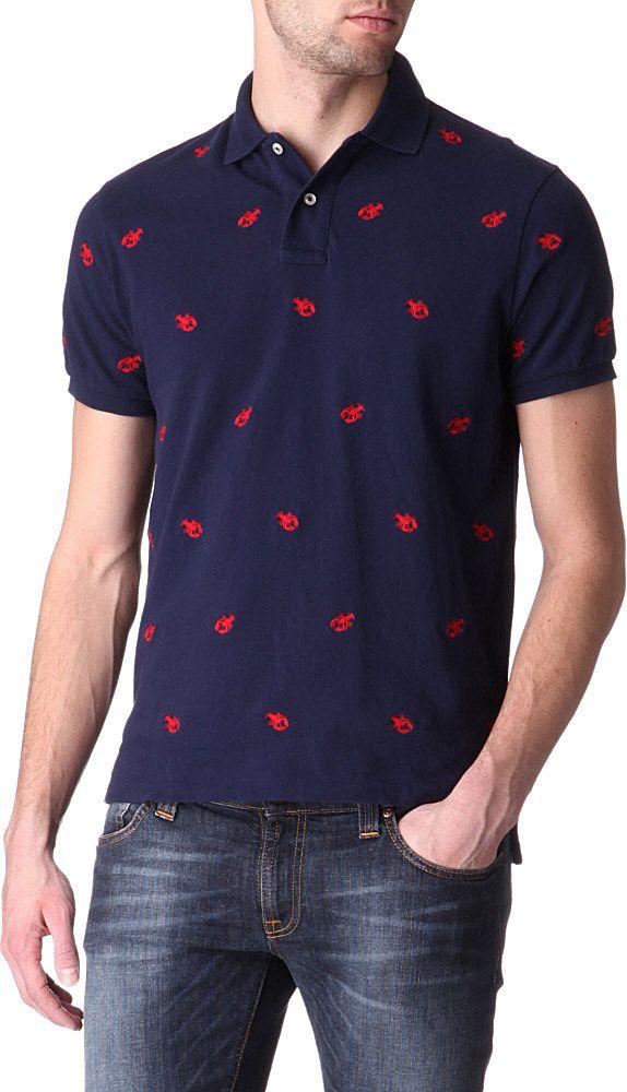 452ce683 Polo Ralph Lauren Embroidered Lobster Polo Shirt | Nice | Polo Shirt ...