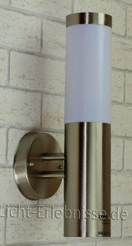 Edelstahl Wand Außenleuchte IP44 Außenlampe Hoflampe Gartenlampe  Gartenleuchte Wandlampe 1003C UP   Http:/