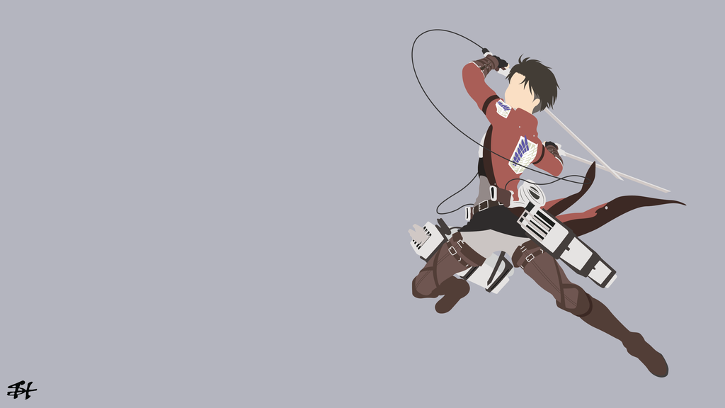 Levi Ackerman Aot Minimalist Wallpaper By Slezzy7 Minimalist Wallpaper Attack On Titan Anime Canvas