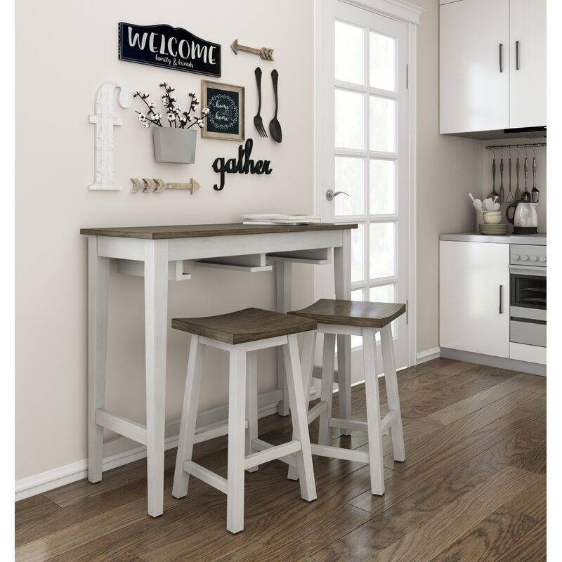 27++ White 3 piece counter height dining set Various Types