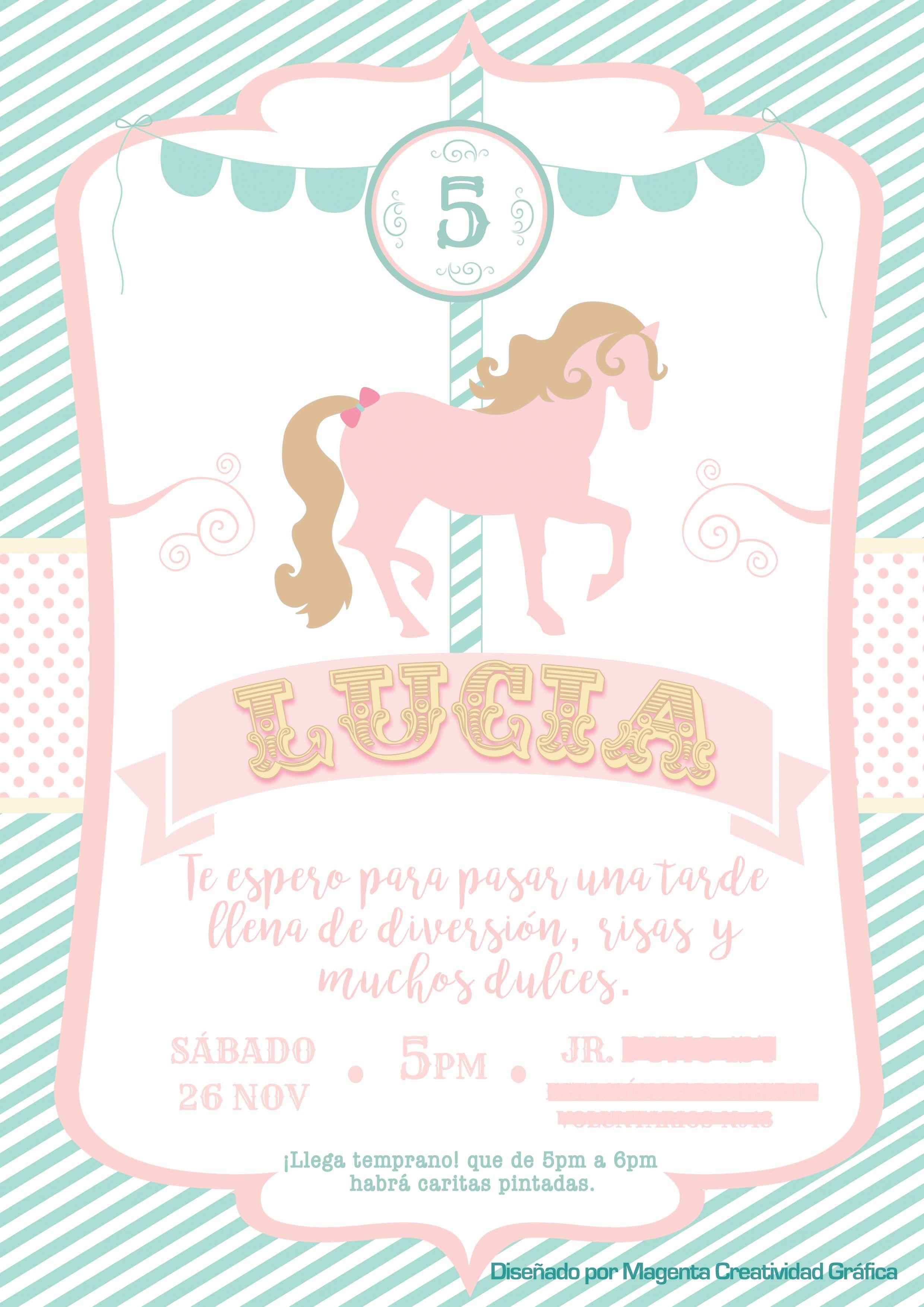 Diseño Creado Por Magenta Perú Tarjeta De Invitación