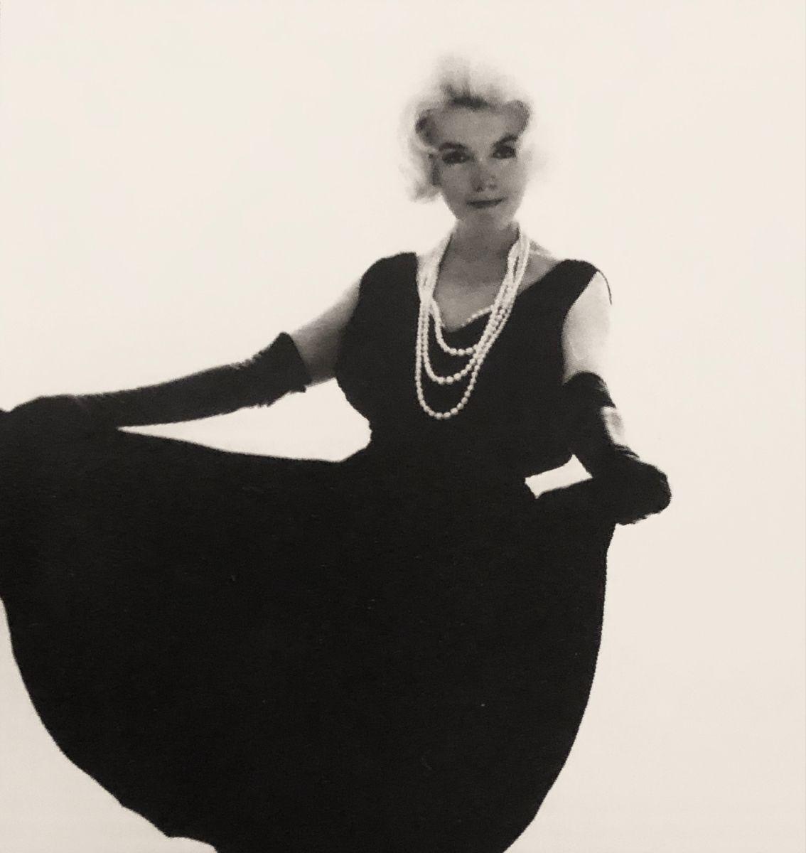 Marilyn Monroe Black Dress Pearls July 10th 1962 [ 1200 x 1134 Pixel ]