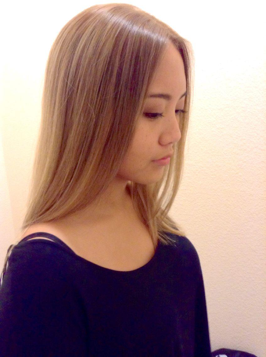 #ash #ashy #blonde #asian #tan