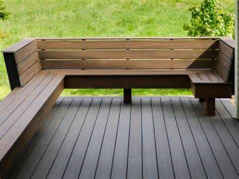 Built In Deck Benches Deck Bench With Back Back Decks Backyard Seating Deck Seating Decks Backyard