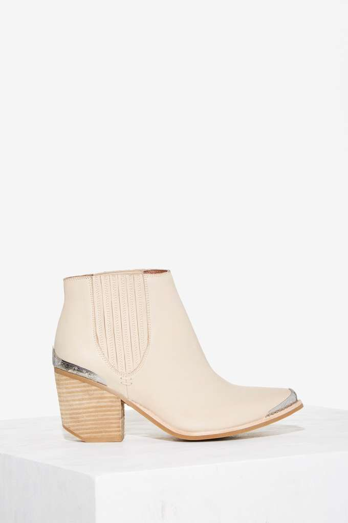 Jeffrey Campbell Metal Fest Leather Bootie   Shop Shoes at Nasty Gal!