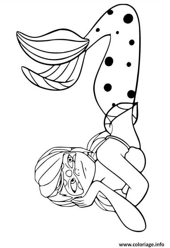 Coloriage Miraculous Ladybug La Sirene Dessin à Imprimer