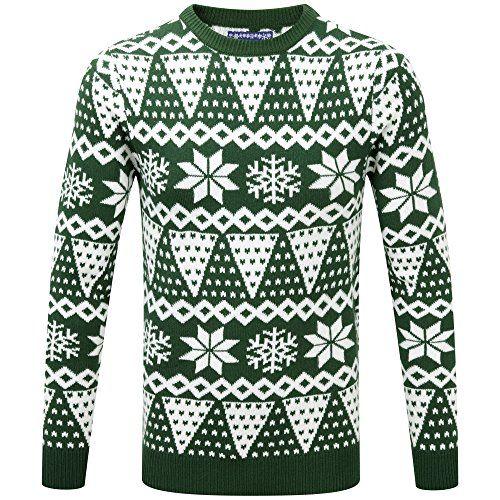 Charles Wilson Novelty Christmas Jumper (Green Isle, 3X-Large ...