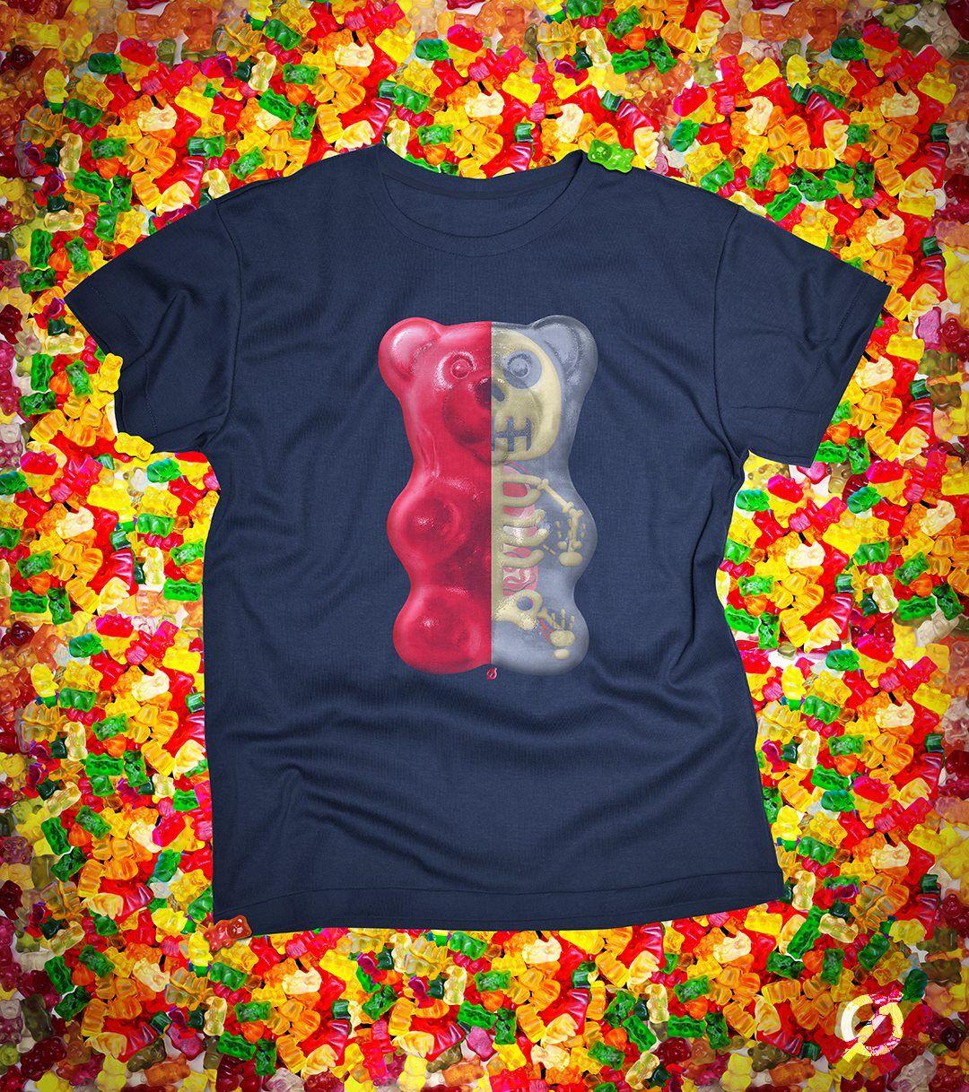 Camiseta Gummy Bear Anatomy - Not Ordinary   girls clothes ...