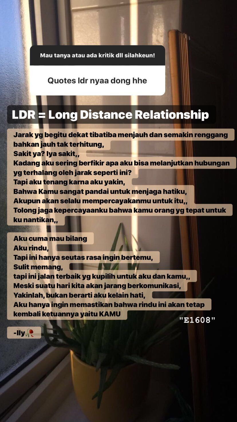 Ldr Quotes Dengan Gambar Teks Romantis Kata Kata Indah