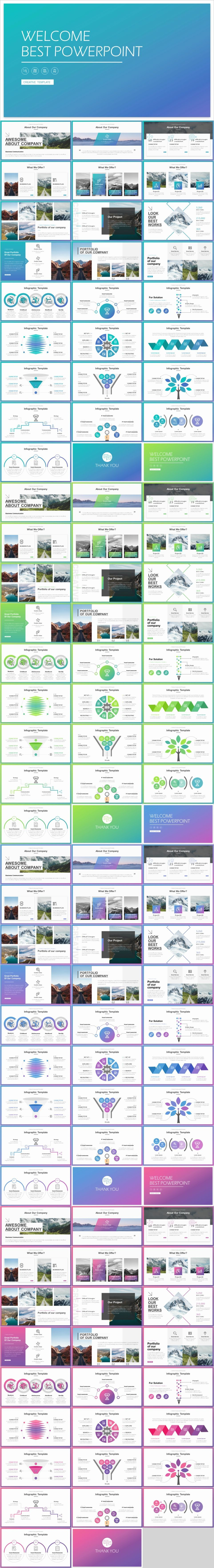 4 In 1 Business Charts Slides Template The Highest Quality Powerpoint Templates And Keynote In 2020 Business Infographic Design Business Infographic Keynote Template