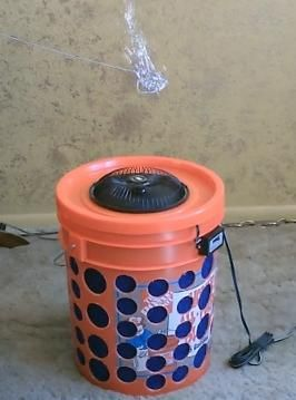 Diy Air Filter The 5 Gallon Bucket Air Filter Awesome Air Purifier Can Be Run On Or Off Grid W Battery O Air Purifier Plastic Laundry Basket Solar Panels