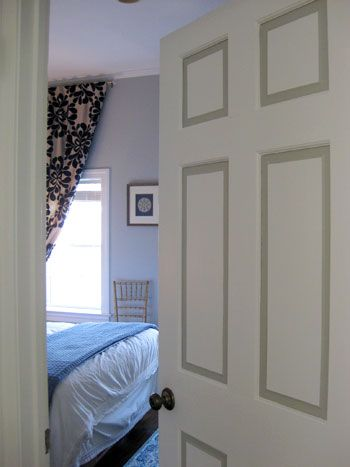 Painted Doors Bevels Have An Accent Color Could Be Cool For - Bedroom-doors-painting