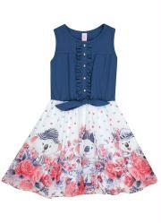37fa676db Vestido Lilica Ripilica Azul | Costura | Kids fashion, Summer ...