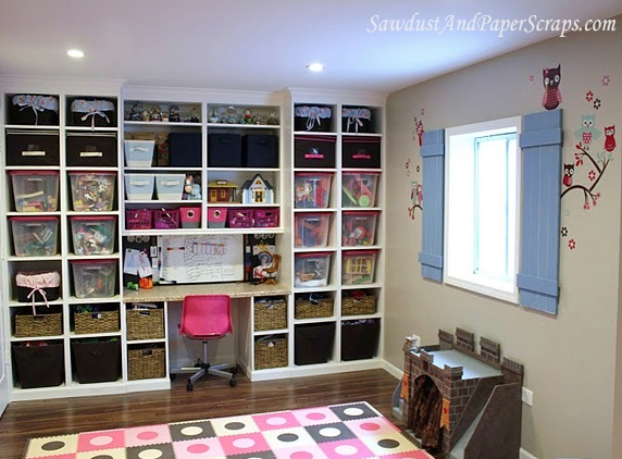great storage (With images) Playroom storage, Basement