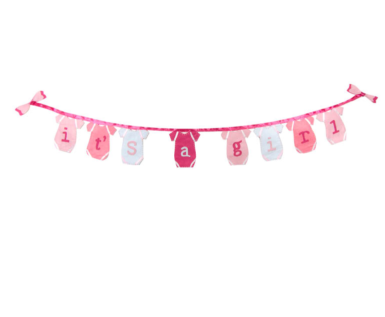 Eco Friendly It S A Girl Banner Its A Girl Banner Eco Favors Eco Friendly Baby Shower