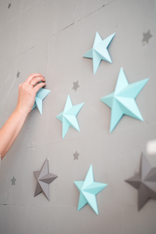 Twinkle Twinkle Little Star 3d Paper Stars Set Nursery Decor For