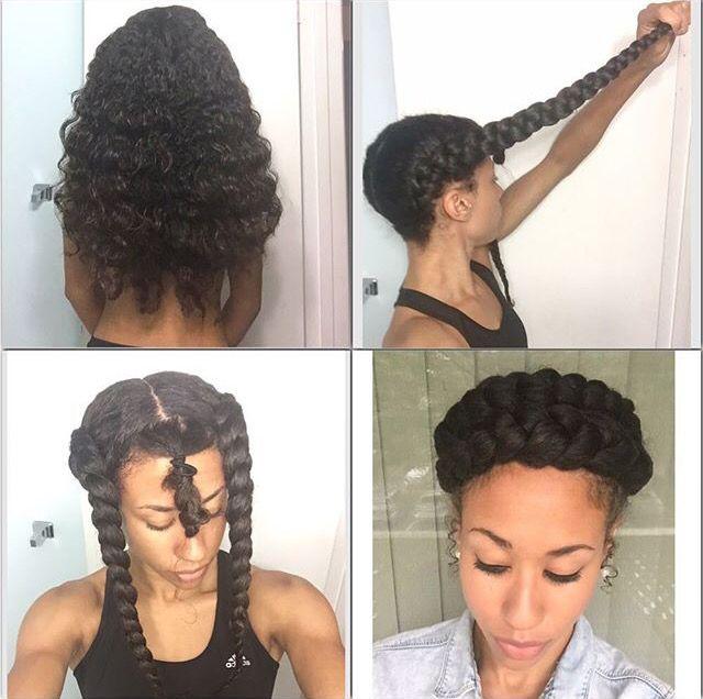 Halo Crown Braid Kissmyspikez Natural Hair Styles Curly Hair Styles Long Hair Styles