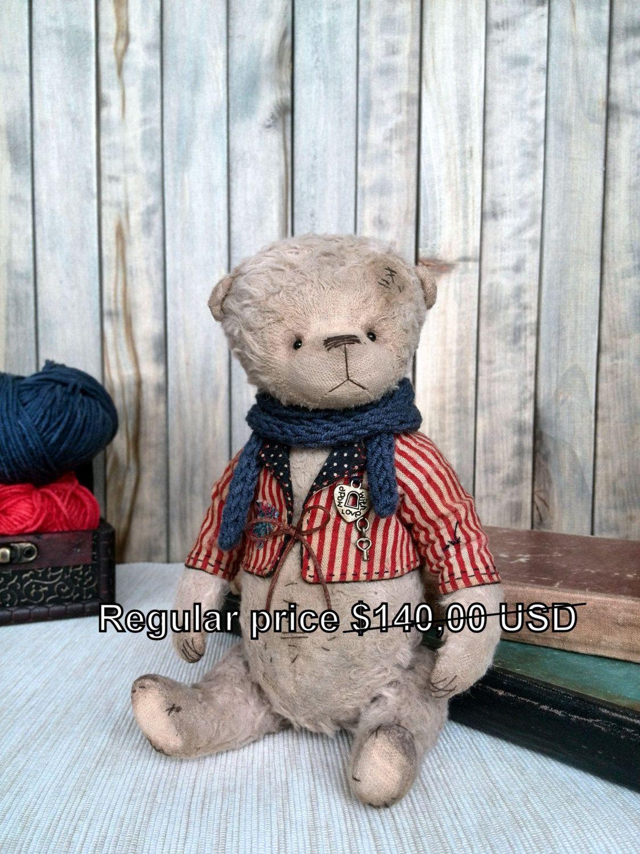 "SALE Artist teddy bear ""Tolik"" OOAK by SiberianTeddyBear"
