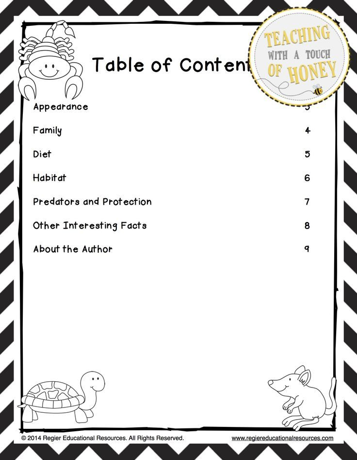 Desert Animal Research - Report Writing Templates Child Care