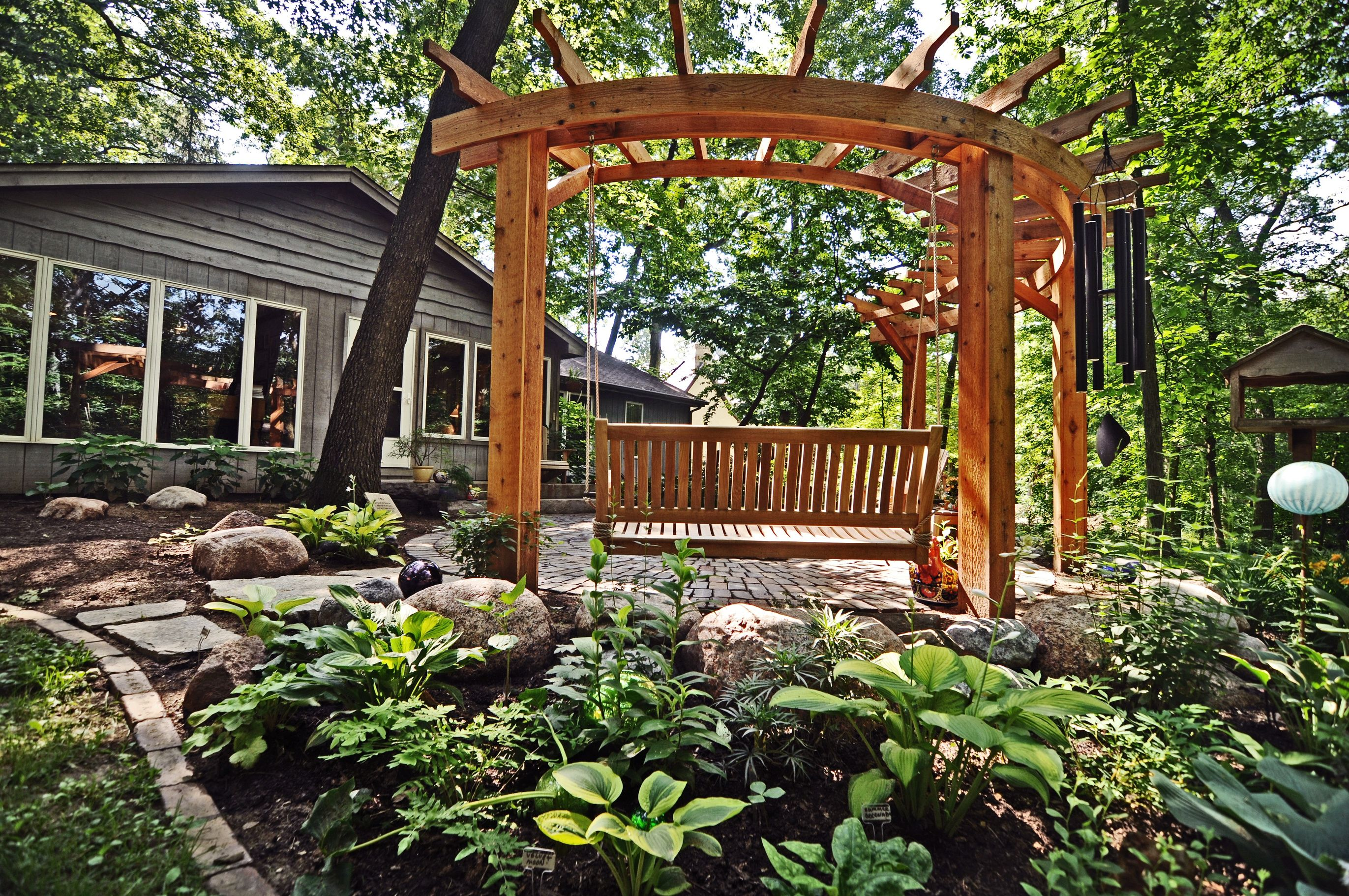 Circular pergola backyard ideas pinterest pergolas for Circular garden decking