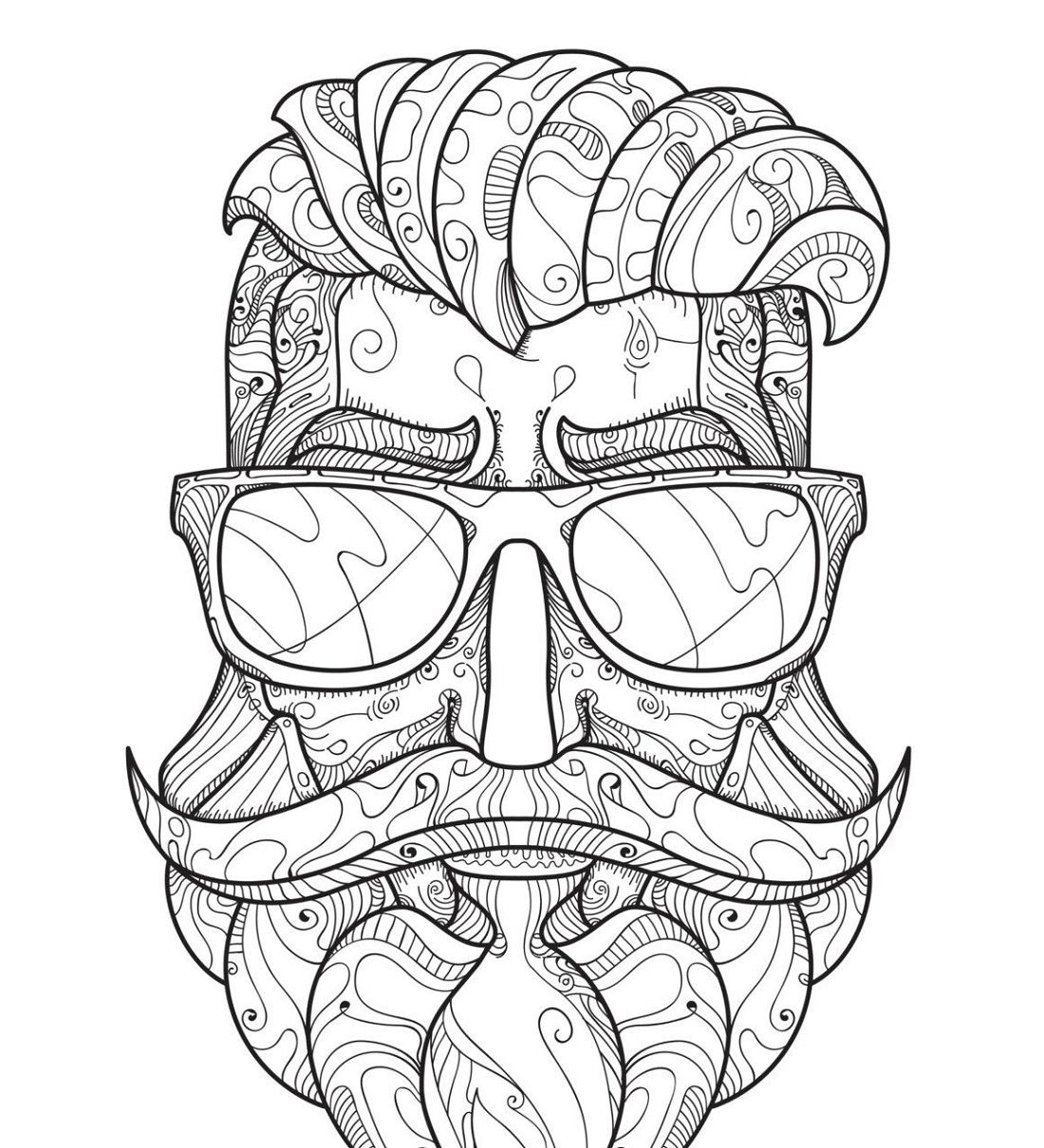 Hipster Coloring Pages For Adults Coloring Pages Coloring Book