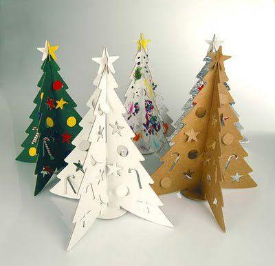 rbol de navidad artificial alternativas ecolgicas - Arbol De Navidad De Carton