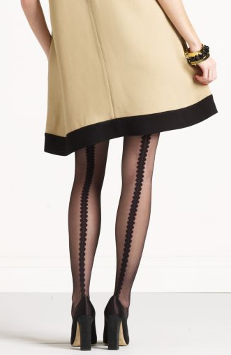 LOVE!! - kate spade scalloped back seam tights. $28 A must get. *